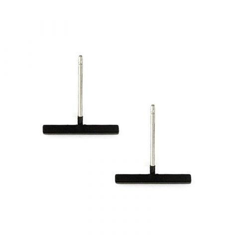 Minimalistische-balk-staafje-oorknopjes-zwart