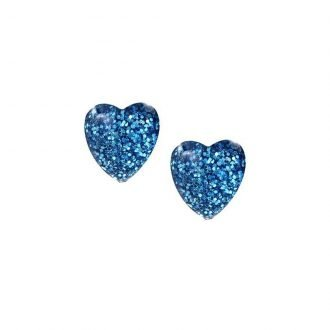 Hartjes oorknoppen met glitters