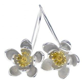 Lotusbloem oorhangers