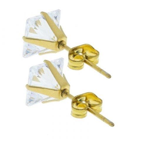 Stalen-oorknoppen-met-vierkante-zirkonia-achter