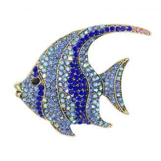 Wimpelvis broche blauw