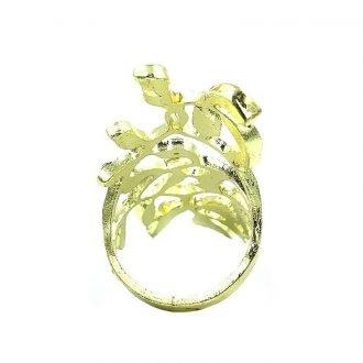 Knuckle ring met steentjes