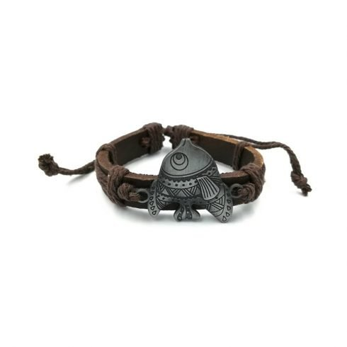 Grote-vis-armband-bruin