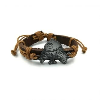 Grote vis armband lichtbruin