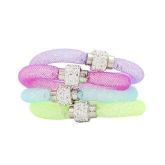 Kristal armbanden 4-delige set