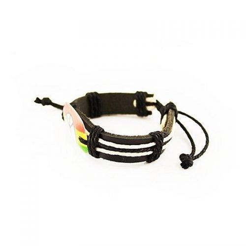 Rasta-Peace-armband-zijkant