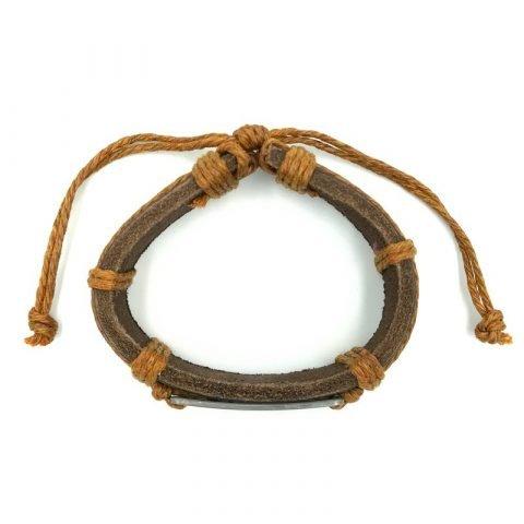 Schildpadjes-armband-bruin-van-boven-af