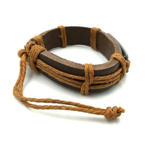 Schildpadjes-armband-bruin-zijkant