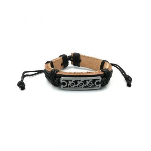 Schildpadjes-armband-zwart