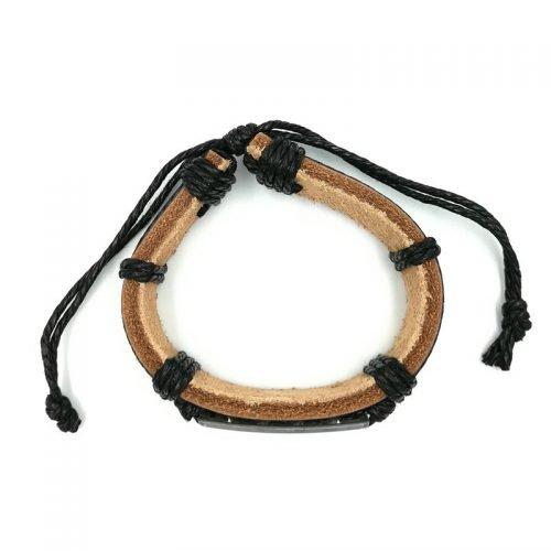 Schildpadjes armband zwart