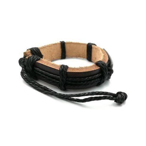Schildpadjes-armband-zwart-zijkant