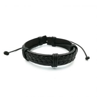 Stoere armband zwart
