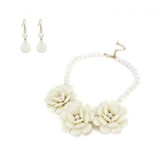 Bloemen sieraden set ivoor