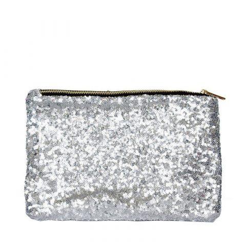 Clutch-met-pailletten-zilver