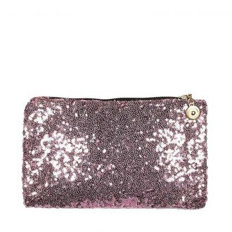 Mini clutch met pailletten roze