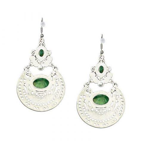 Groene oorbellen vintage stijl