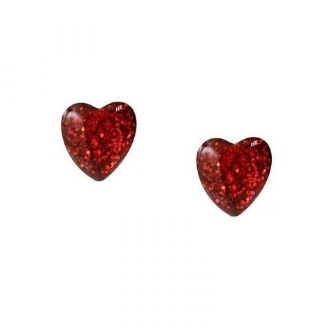 Hartjes-oorknoppen-met-glitters-rood-voorkant