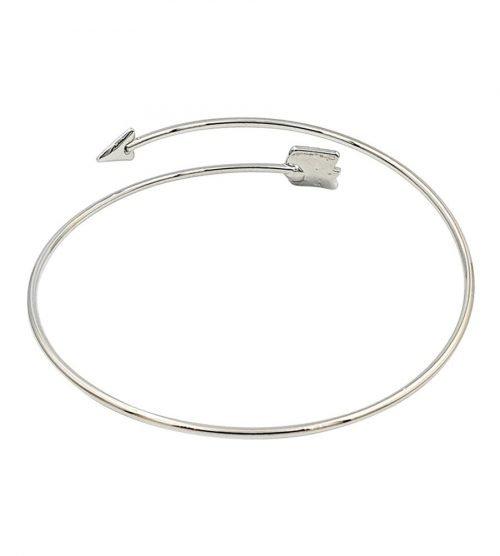 Pijl armband bohemian stijl zilverkleurig