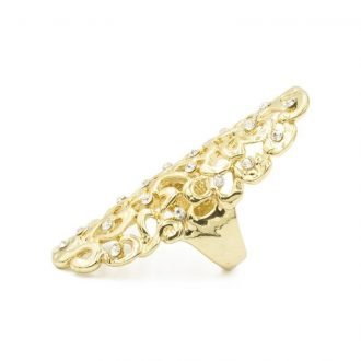 Statement ring met kristallen