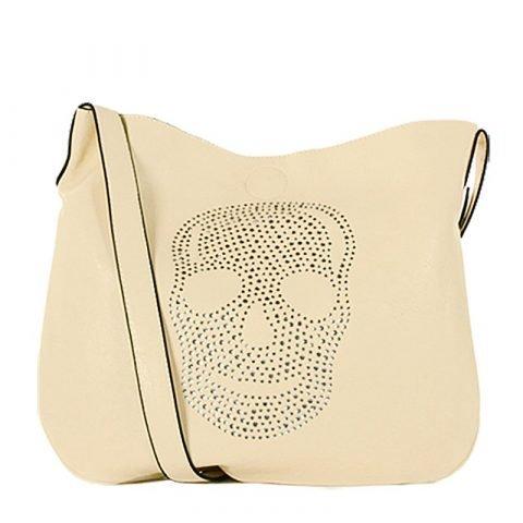 Eternel-schoudertas-skull-handtas-bag-in-bag-beige