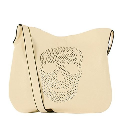 Eternel-schoudertas-skull-handtas-bag-in-bag-beige