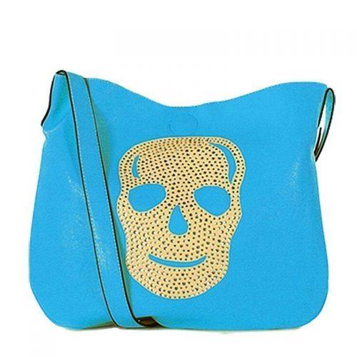 Eternel-schoudertas-skull-handtas-bag-in-bag-blauw