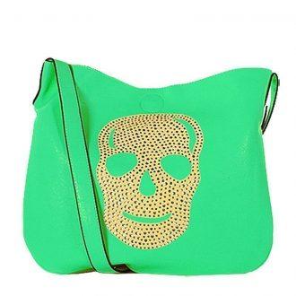 Eternel schoudertas skull dames groen