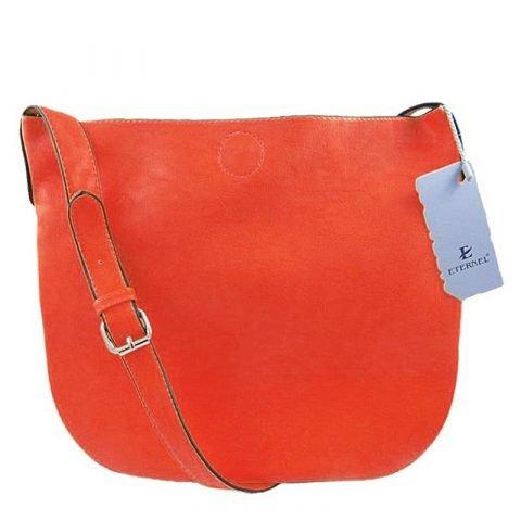 Eternel-skull-schoudertas-handtas-bag-in-bag-koraal-rood-achterkant