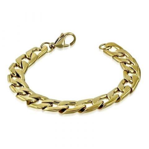Goudkleurige armband met gourmet schakels