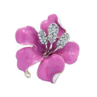 Orchidee broche roze