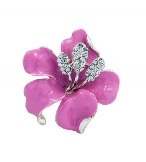 Broche Orchidee 47×50 mm Rose