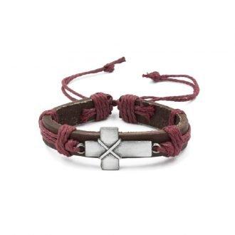 Latijnse kruis armband rood