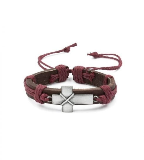kruis-armband-latijnse-bordeaux-rood