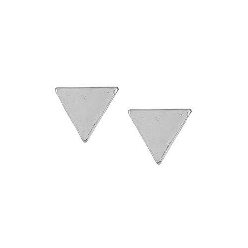Driehoek-oorbellen-zilverkleurig
