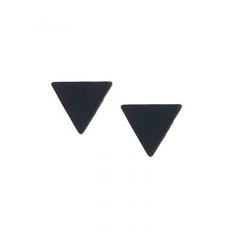 Driehoek-oorbellen-zwart