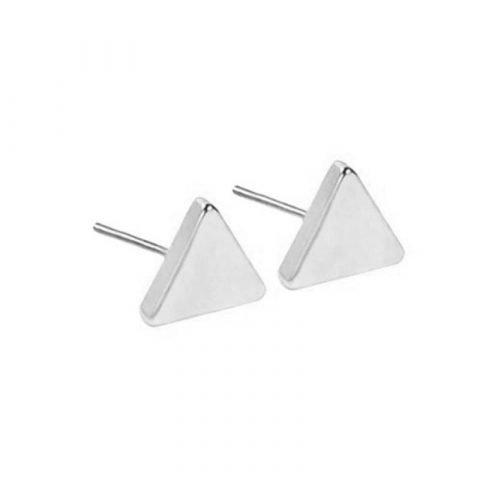 driehoek-oorknopjes-zilverkleurig-zij