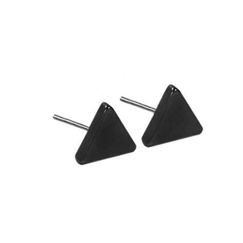 Driehoek oorbellen zwart