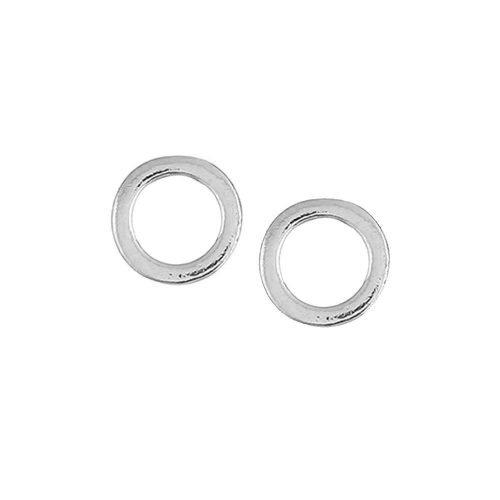 Open cirkel minimalistische oorbellen zilverkleurig
