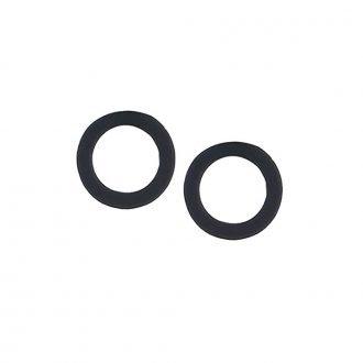 Zwarte open cirkel minimalistische oorbellen