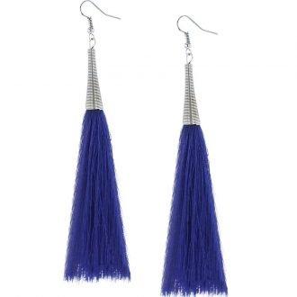 Blauwe lange oorbellen dames