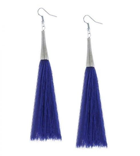 Oorbellen-Kwast-Cone-XL-blauw