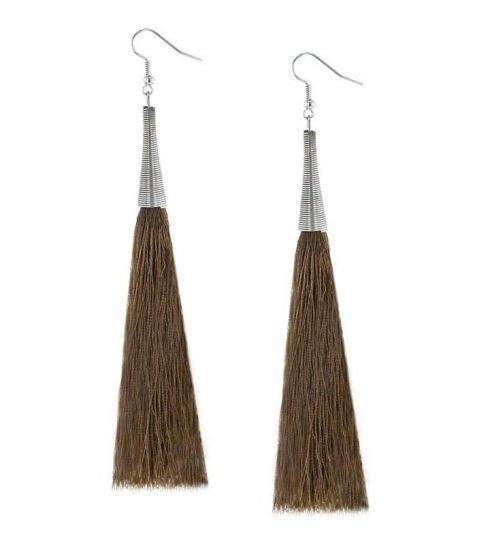 Oorbellen-Kwast-Cone-XL-bruin