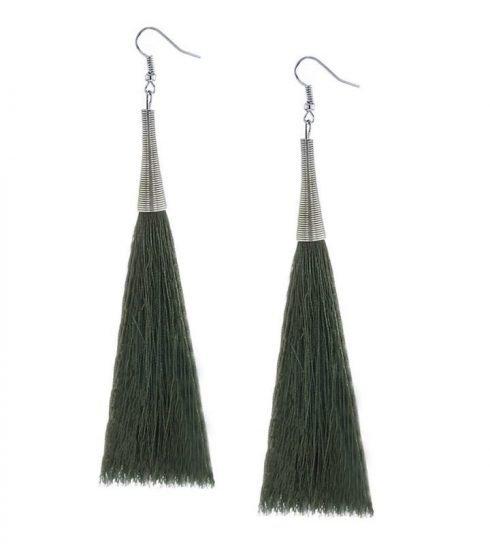 Oorbellen-Kwast-Cone-XL-groen