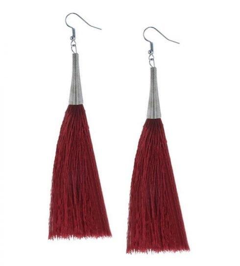 Oorbellen-Kwast-Cone-XL-rood
