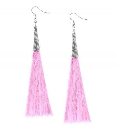 Oorbellen-Kwast-Cone-XL-roze