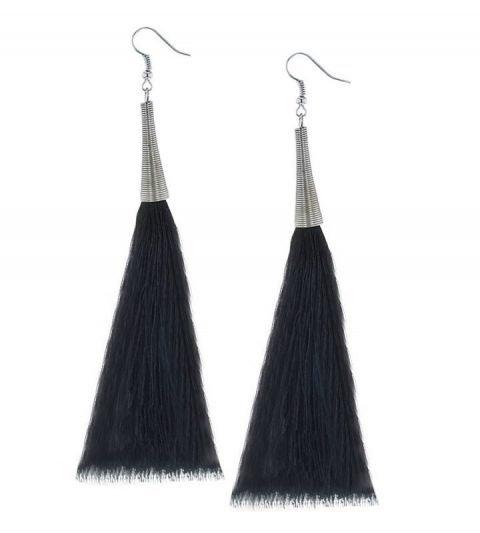 Oorbellen-Kwast-Cone-XL-zwart