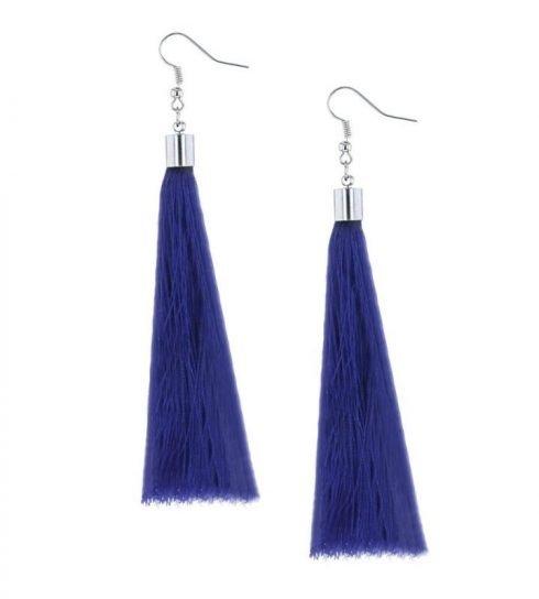 Oorbellen-Kwast-XL-blauw