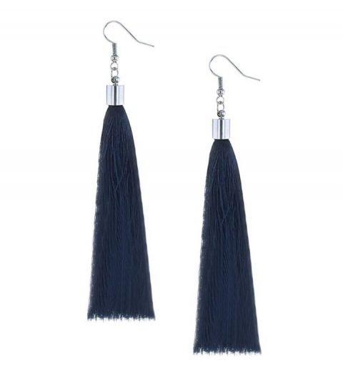 Oorbellen-Kwast-XL-donkerblauw