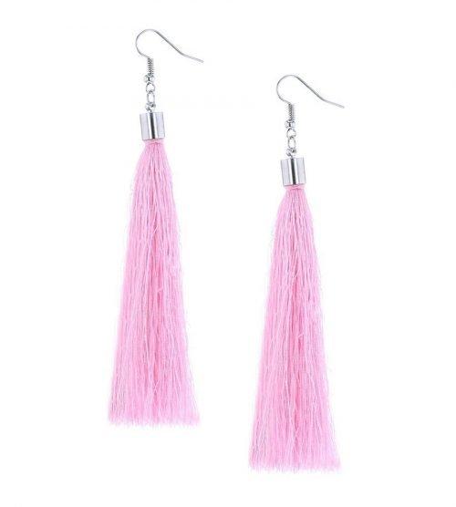 Oorbellen-Kwast-XL-roze