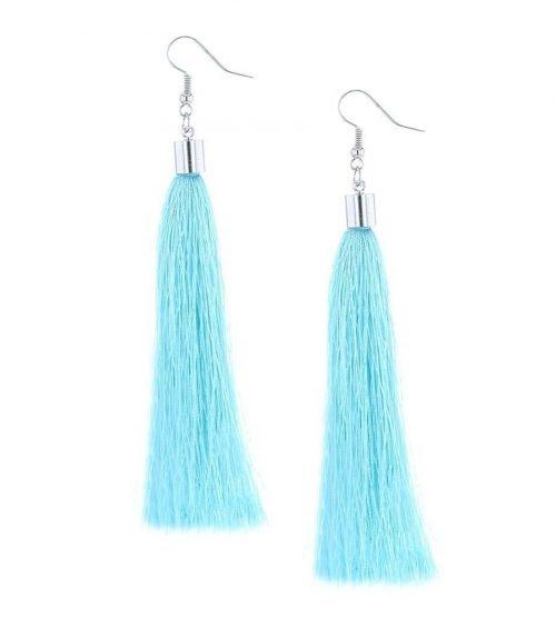 Oorbellen-Kwast-XL-turquoise